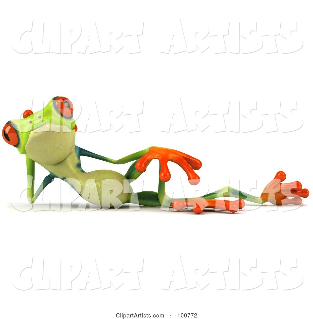 Argie Frog Facing Front and Reclining
