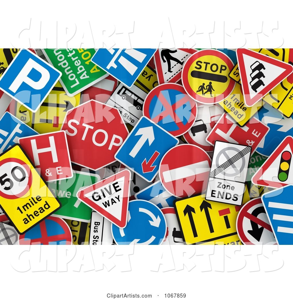 Background of UK Traffic Signs