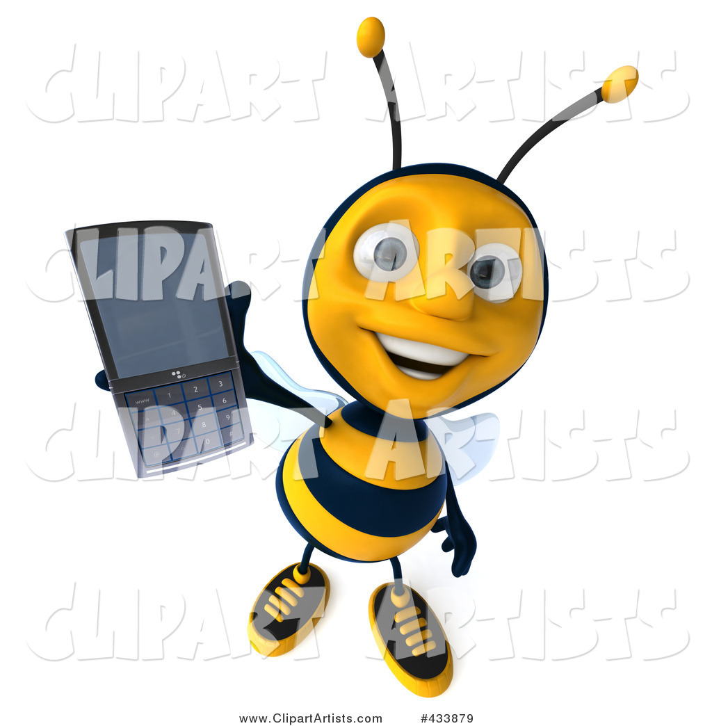 Bee Holding out a Cell Phone