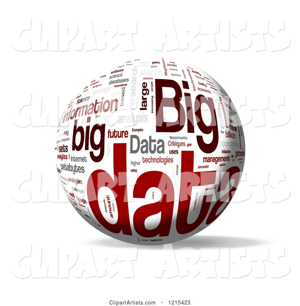 Big Data Word Collage Sphere