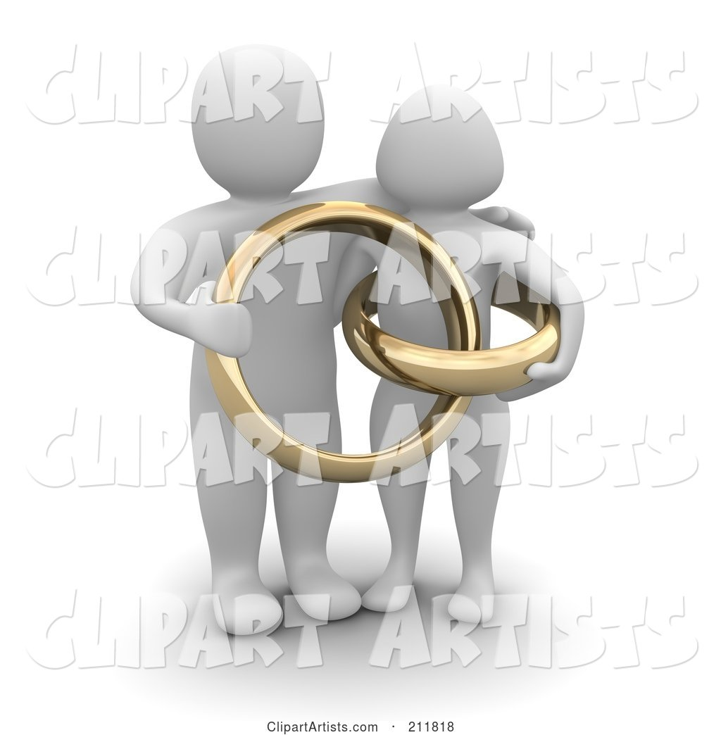 Blanco Couple with Giant Golden Wedding Rings