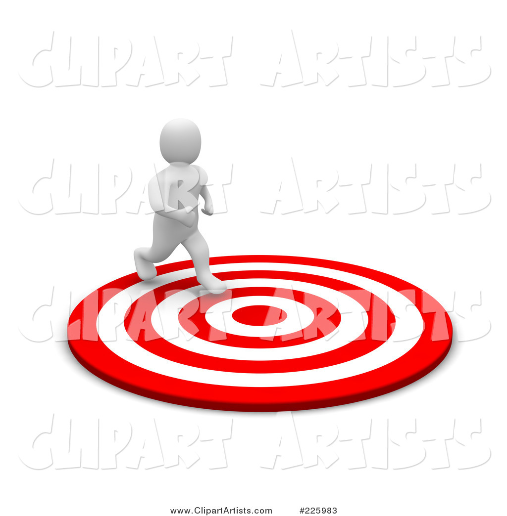 Blanco Man Running to the Center of a Bullseye