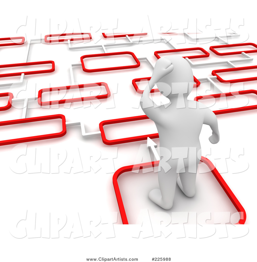 Blanco Man Trying to Decide Which Path to Take - 2