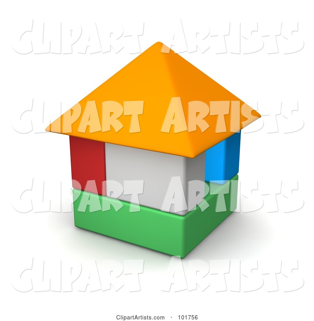 Colorful Block House