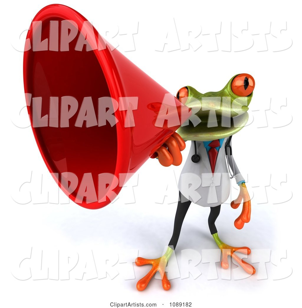 Doctor Springer Frog Announcing with a Megaphone 4