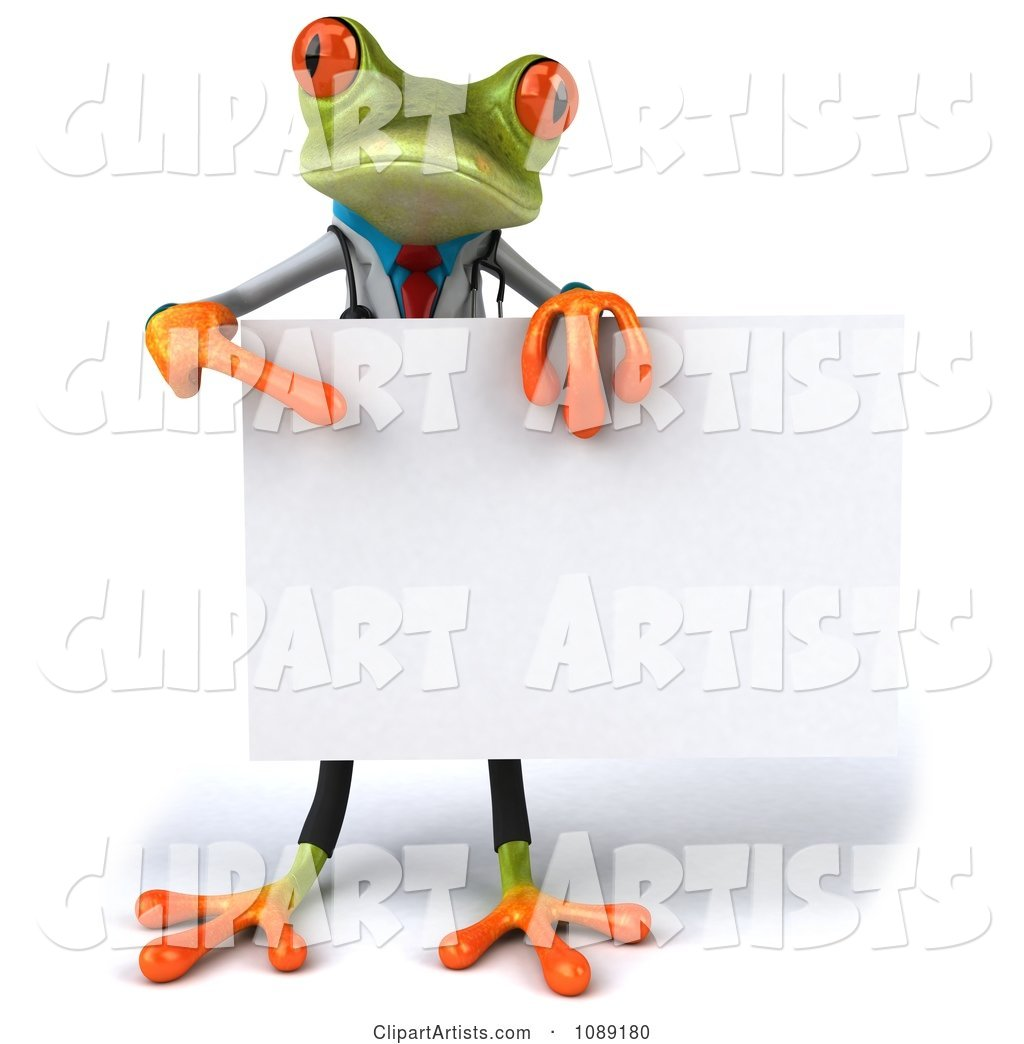 Doctor Springer Frog Holding a Sign 2