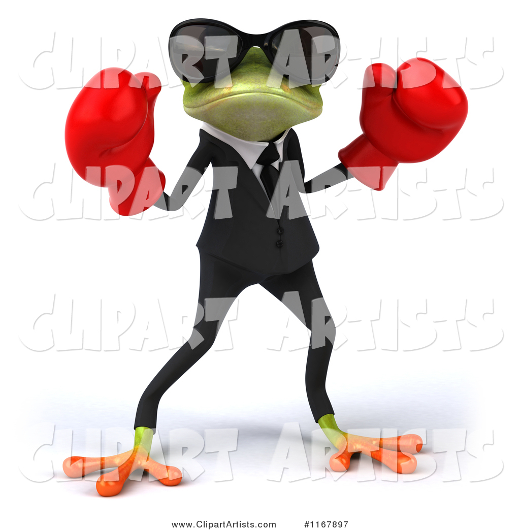 Formal Frog with Sunglasses and Boxing Gloves