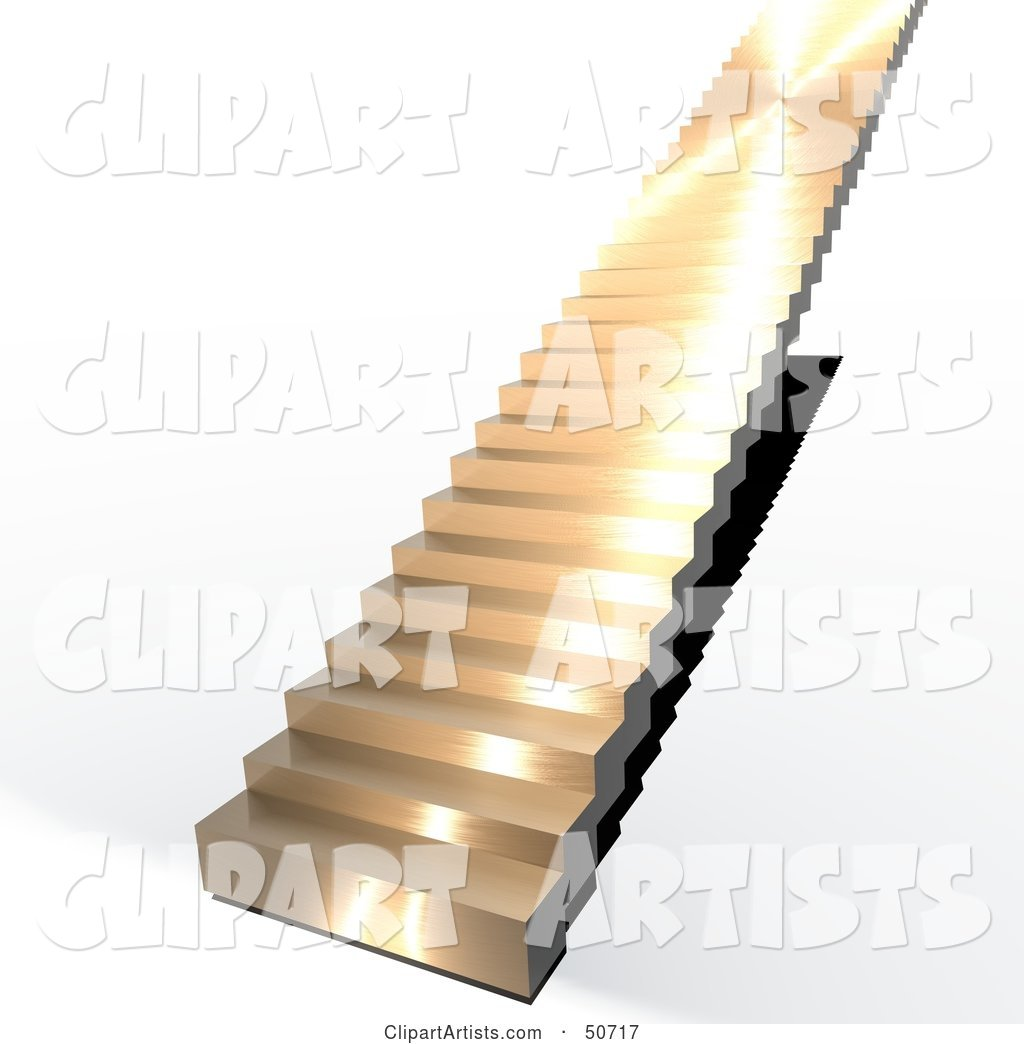 Gold Stairs Leading Upwards to the Unknown
