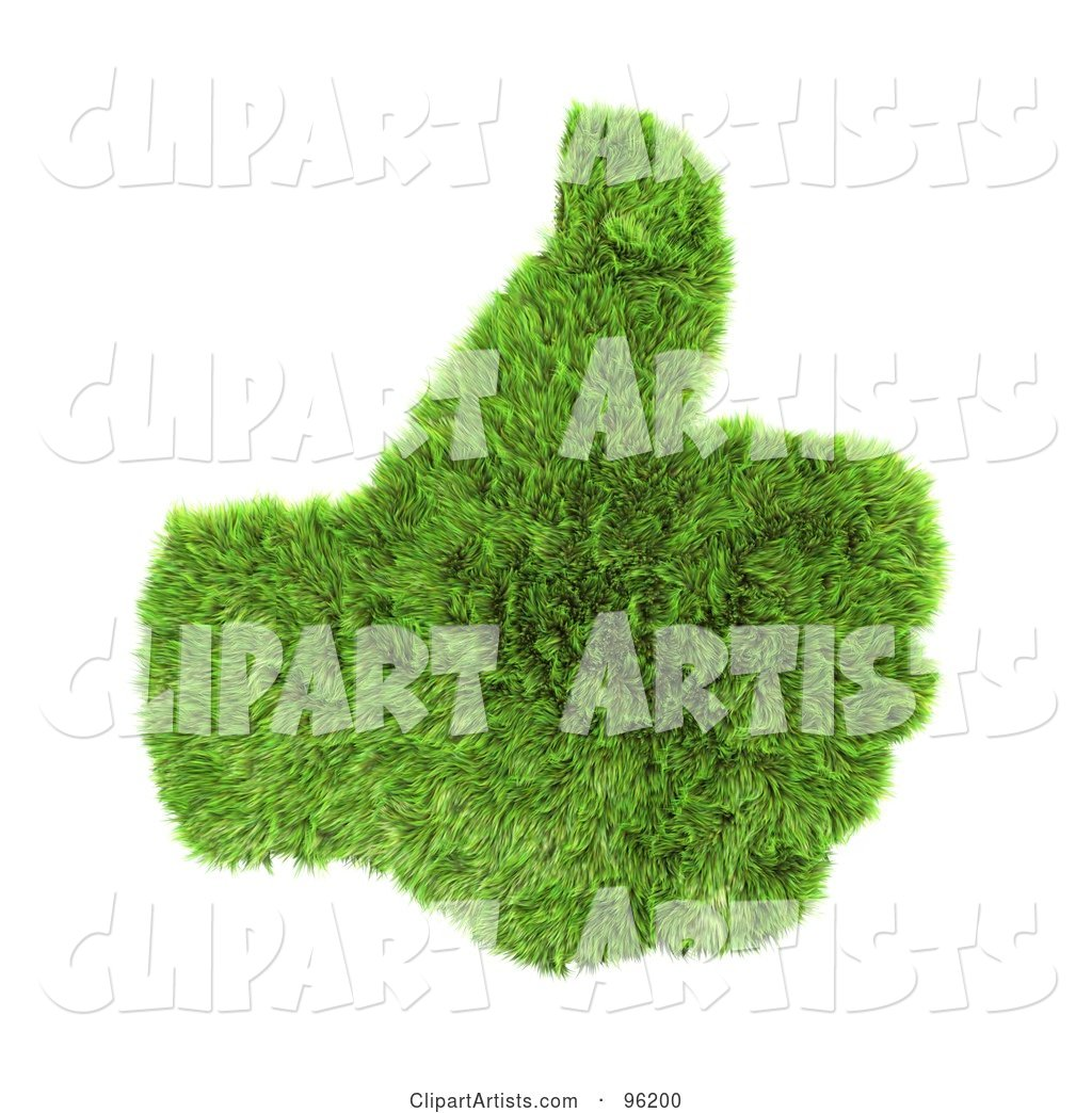 Green Grass Hand with a Thumb up