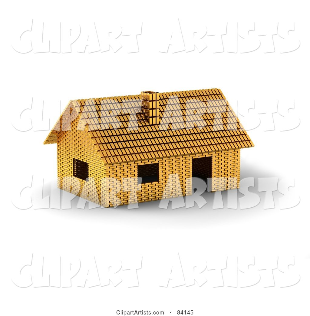 Home Constructed of Gold Bars
