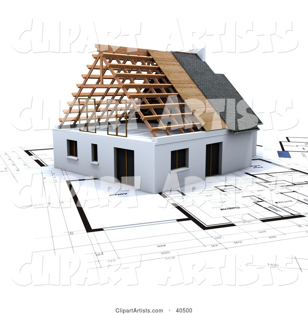 House on Blue Print Plans