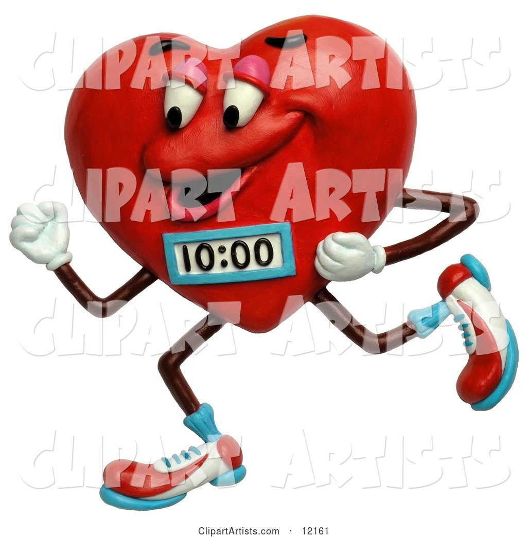 Jogging Heart with a Timer