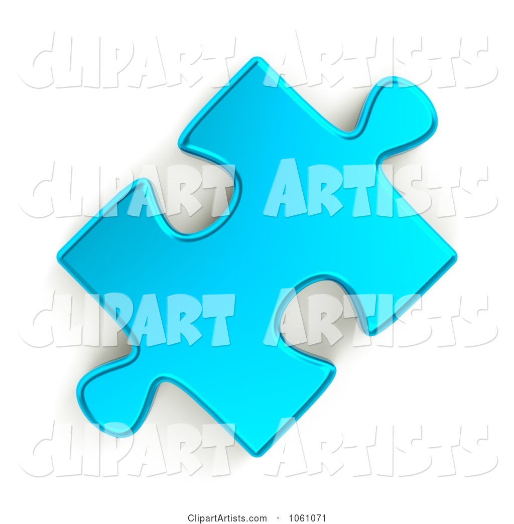 Metallic Blue Jigsaw Puzzle Piece