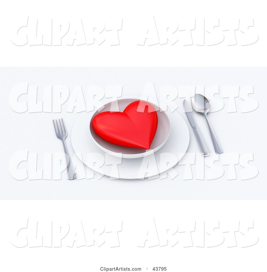 Red Heart Served on a Plate