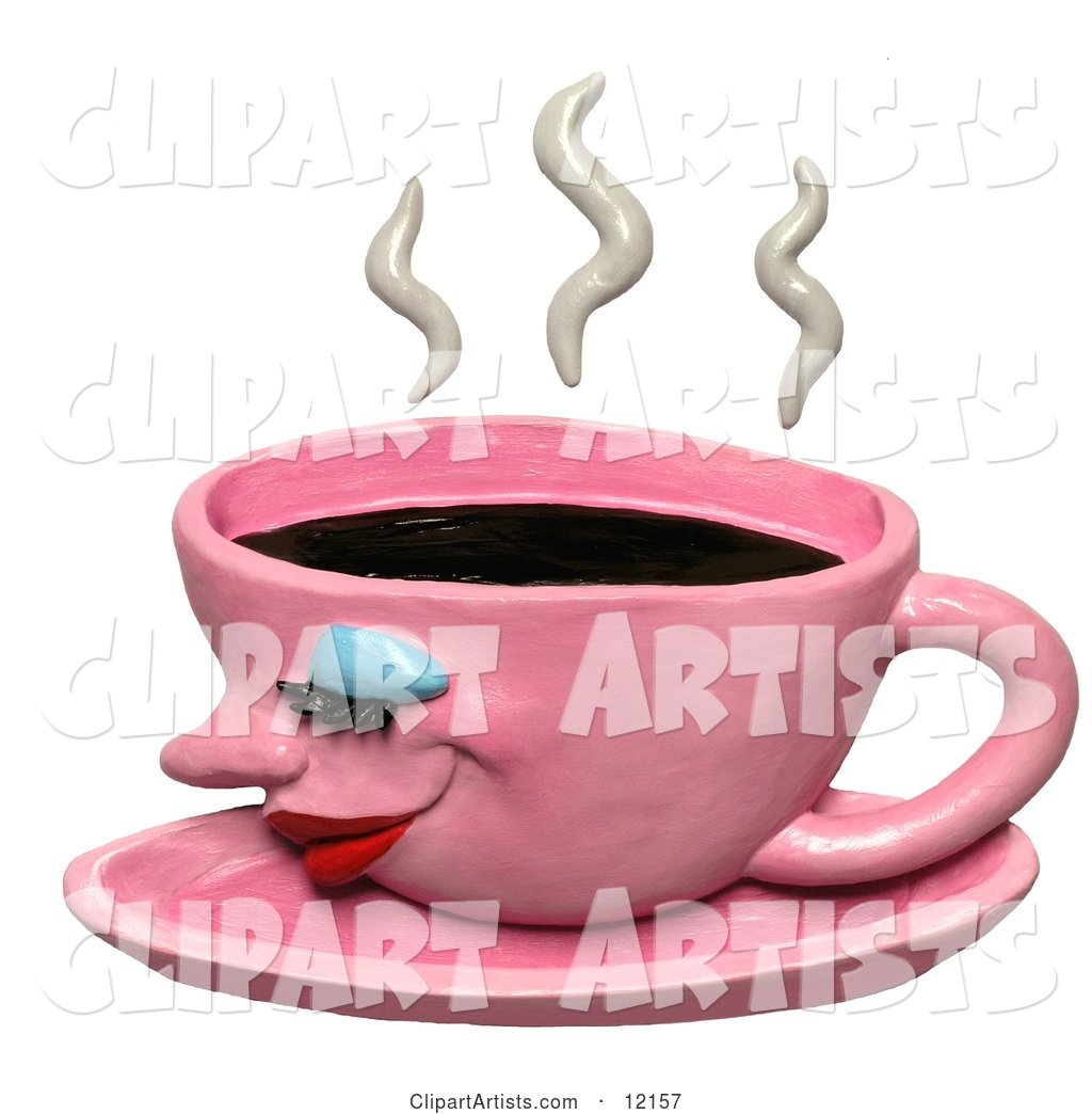 Steamy Pink Coffee Cup