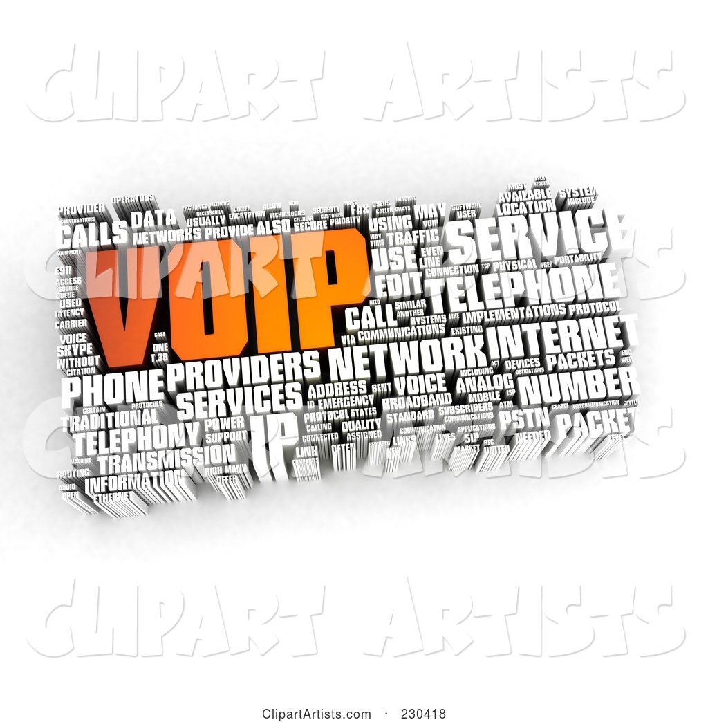 VOIP Word Collage