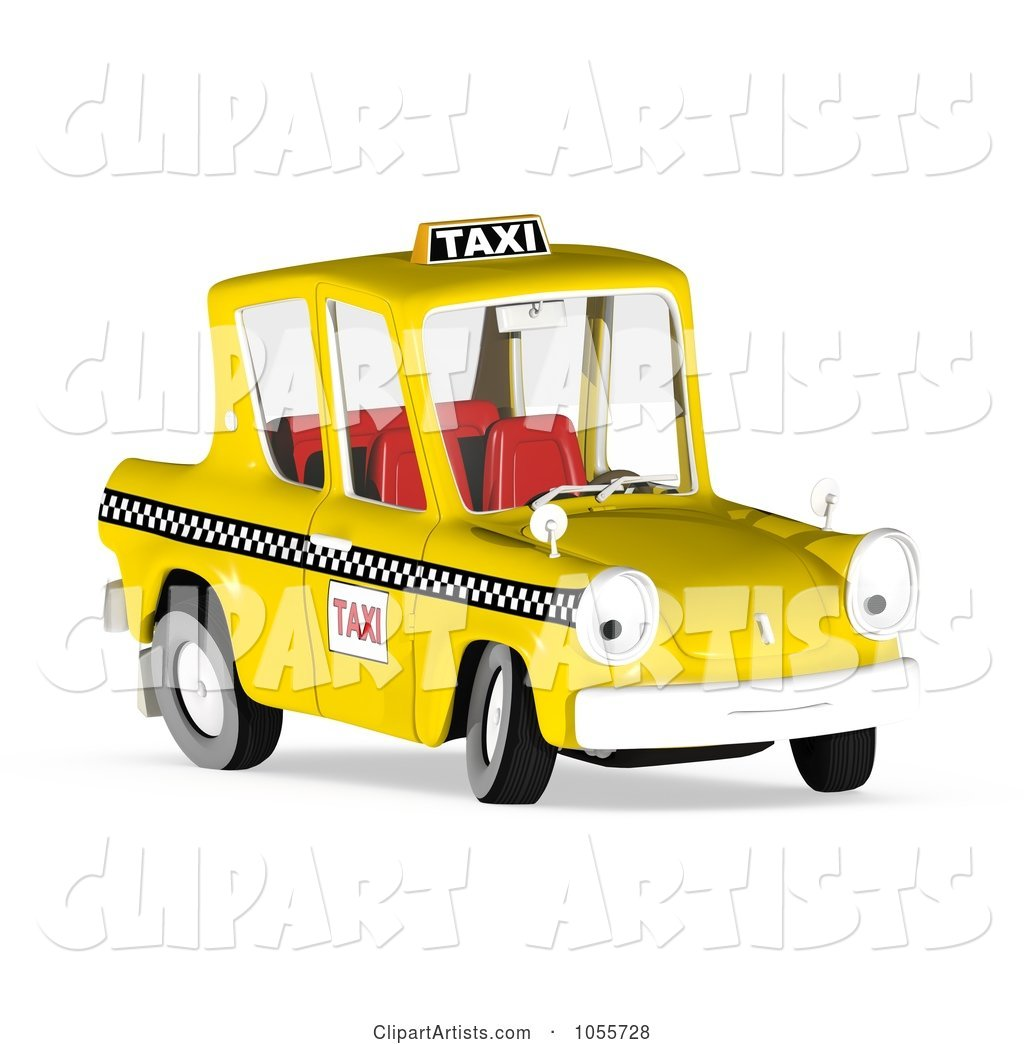 Yellow Taxi Cab Character