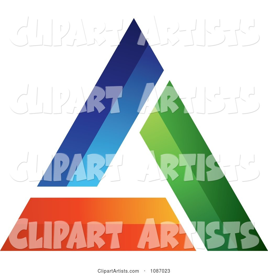 Blue Green and Orange Triangle