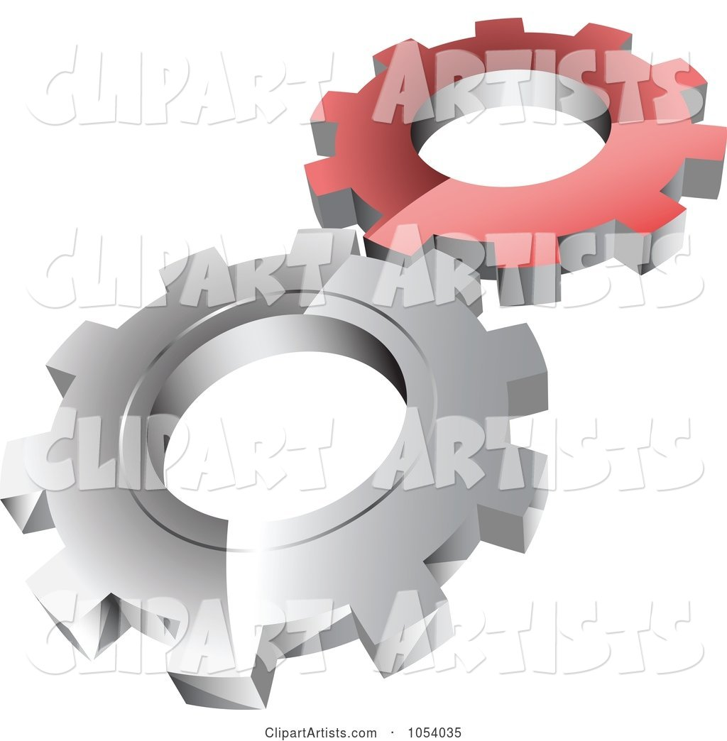 Red and Silver Gears Logo