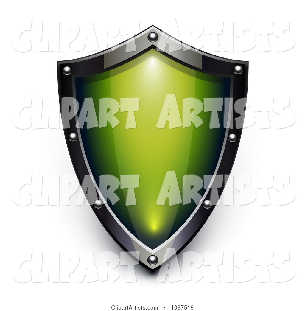 Silver and Green Security Shield