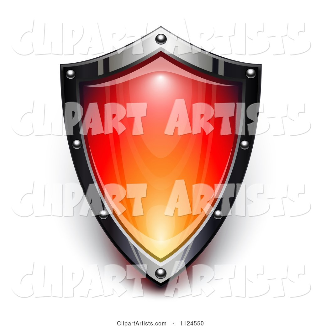 Steel and Red Security Shield