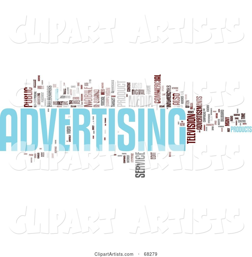 Advertising Word Collage - Version 2