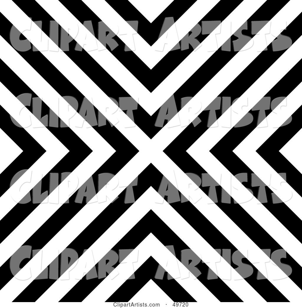 Black and White Line Background Forming an X