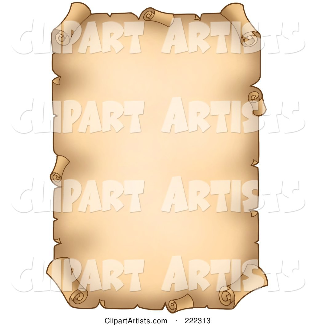 Blank Aged Vertical Parchment Paper