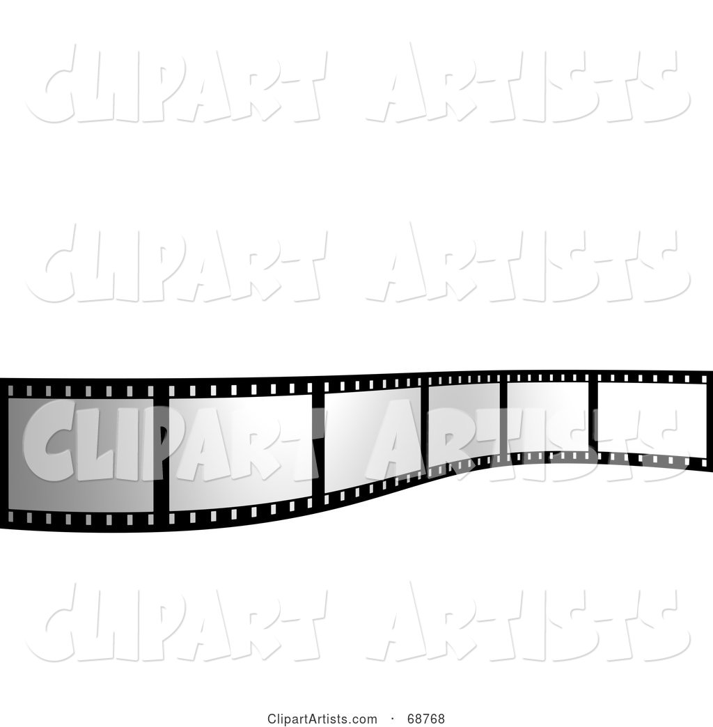 Blank Film Strip Standing up over White