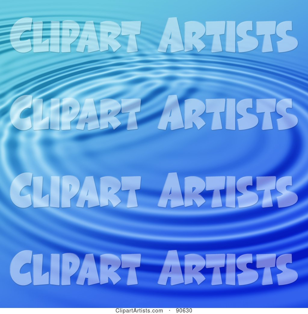 Blue Rippling Water Background - 1