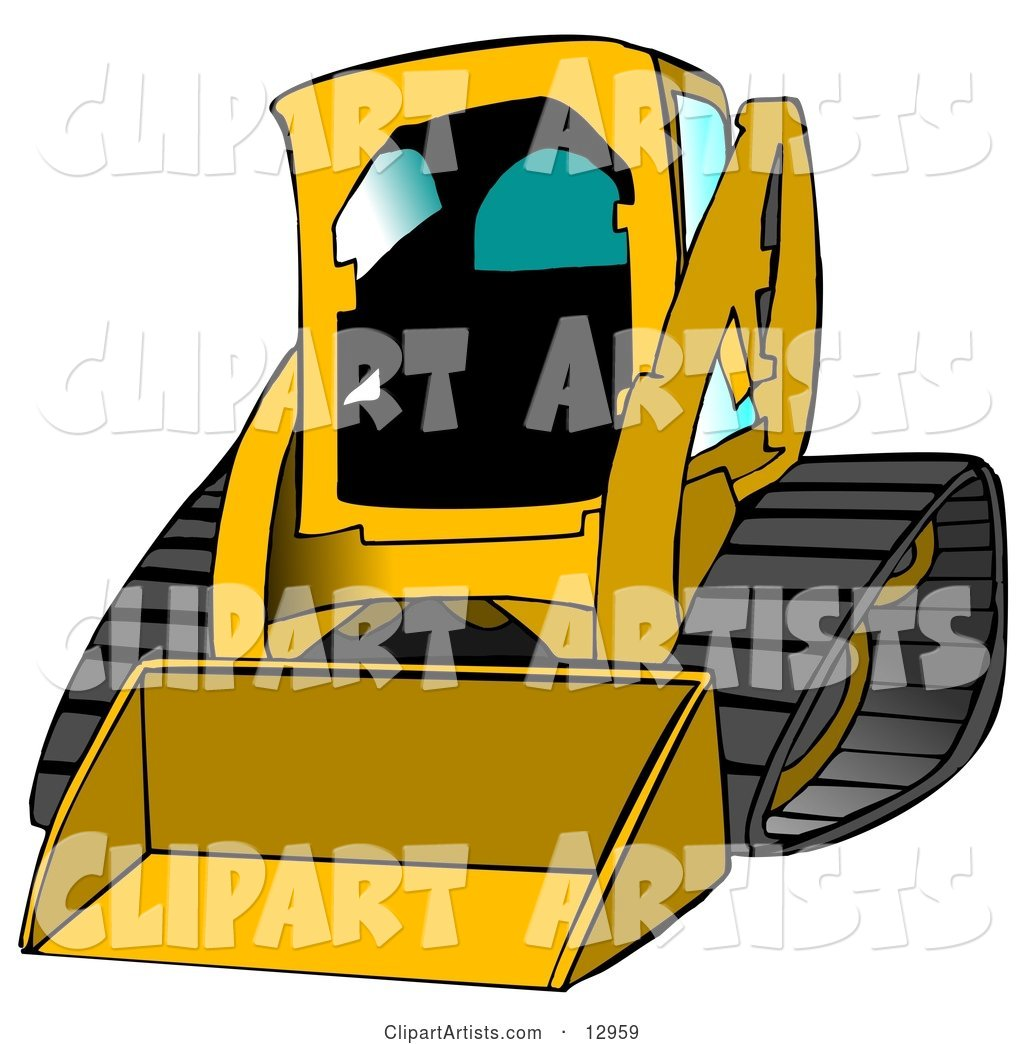 Bobcat Skid Steer Loader in Dark Yellow with Blue Tinted Windows