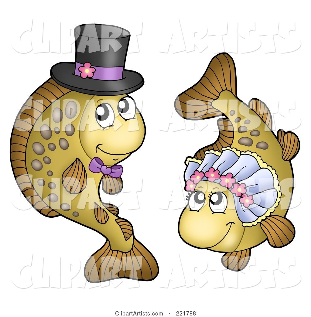 Carp Fish Bride and Groom
