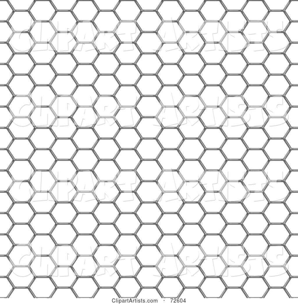 Chicken Wire Mesh Background on White