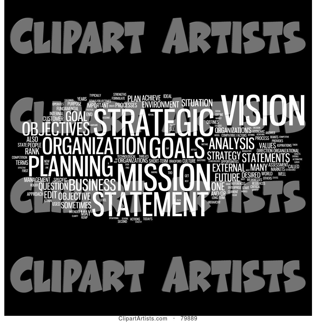 Collage of Words; Strategic Planning - Version 1