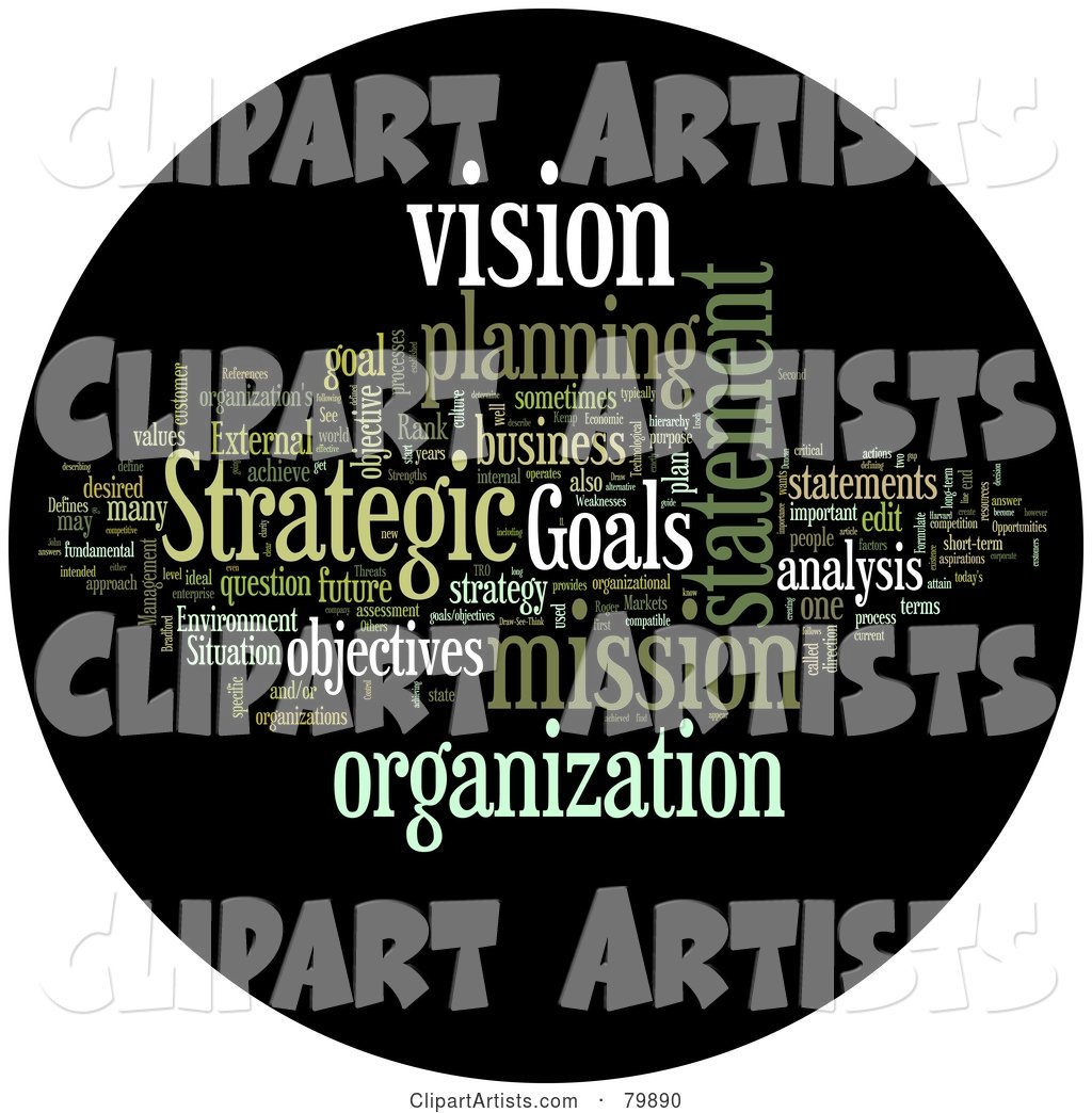 Collage of Words; Strategic Planning - Version 2