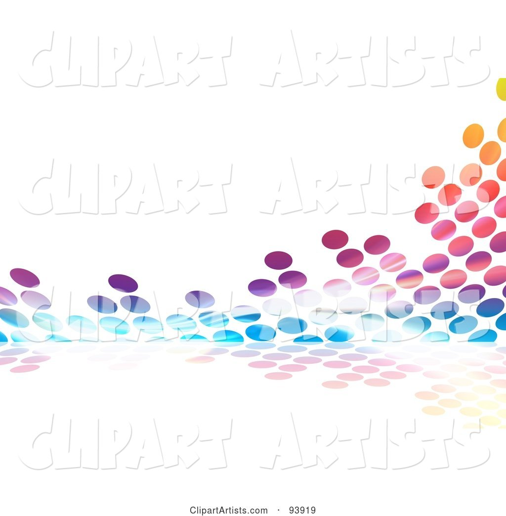 Colorful Halftone Dot Equalizer Background on White - 2