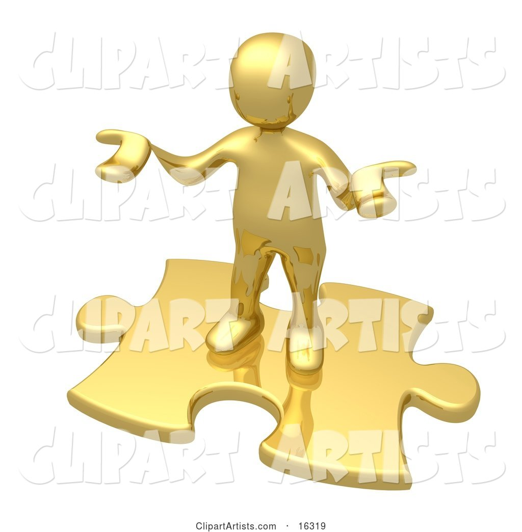 Confused Gold Person Holding Their Hands out Because They Aren't Sure What to Do About Seo and Link Exchanges to Market Their Site