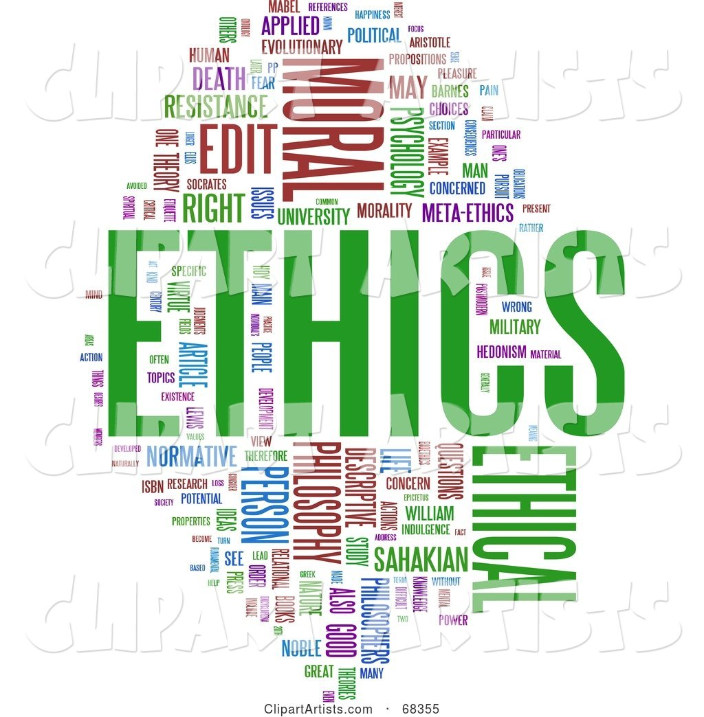 Ethics Word Collage - Version 1