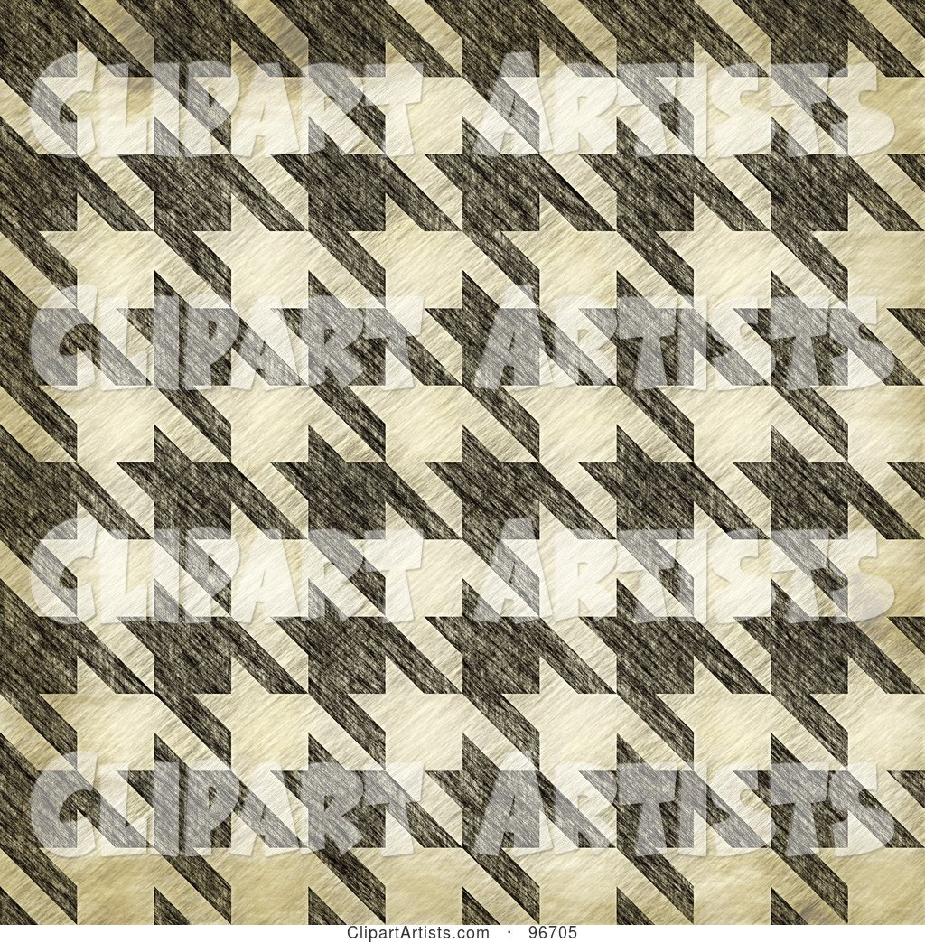Grungy Textured Seamless Houndstooth Patterned Background