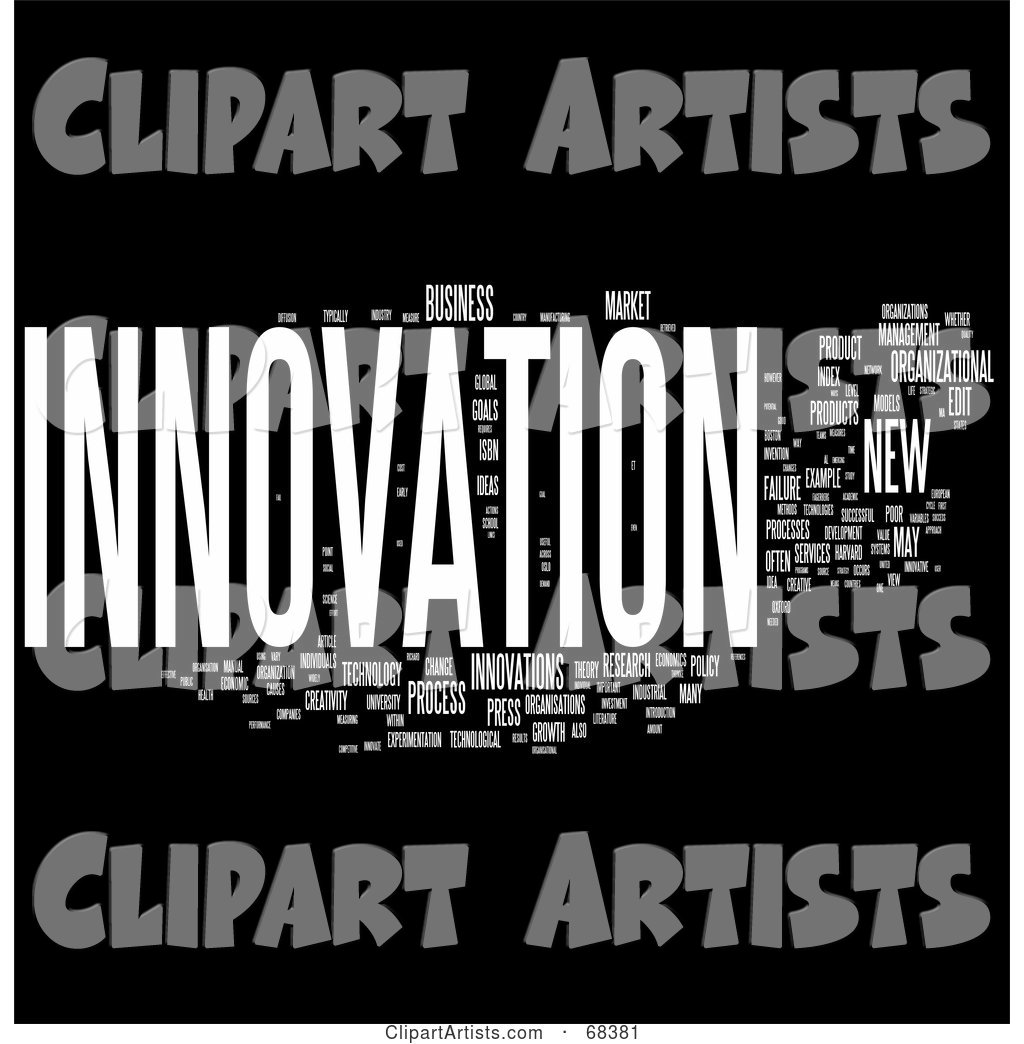 Innovation Word Collage - Version 2