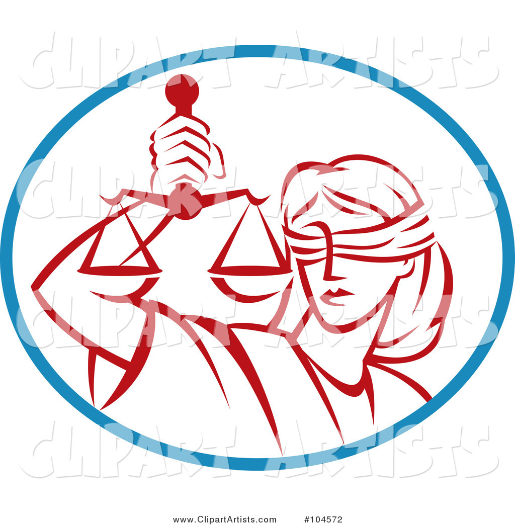 Legal Blind Justice and Scales Logo