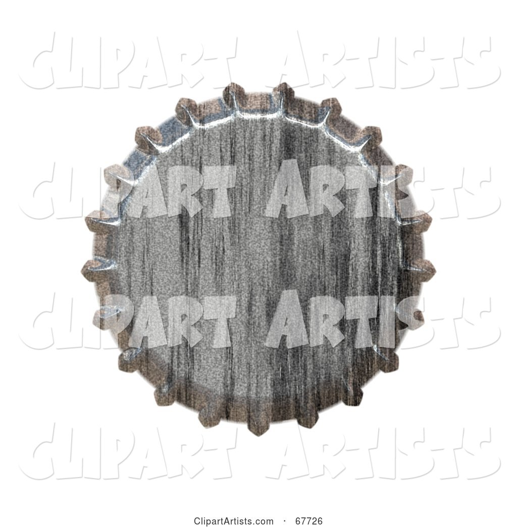 Metal Bottlecap on White