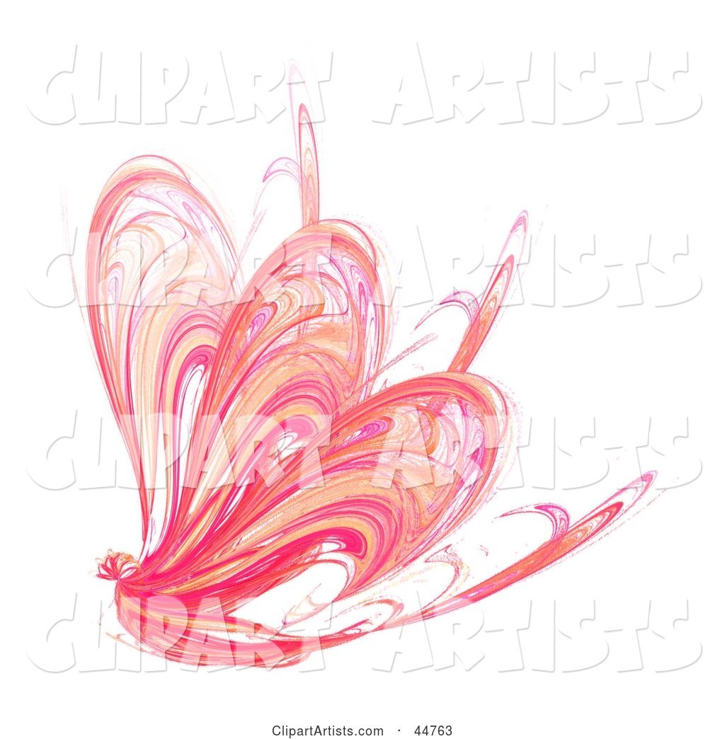 Pink Butterfly Fractal