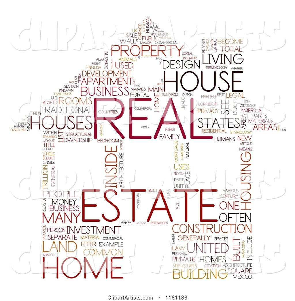 Real Estate House Word Collage