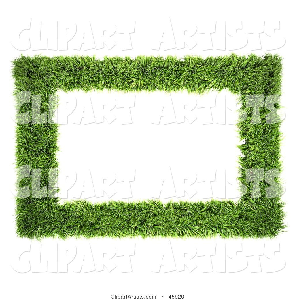 Realistic Green Grass Frame