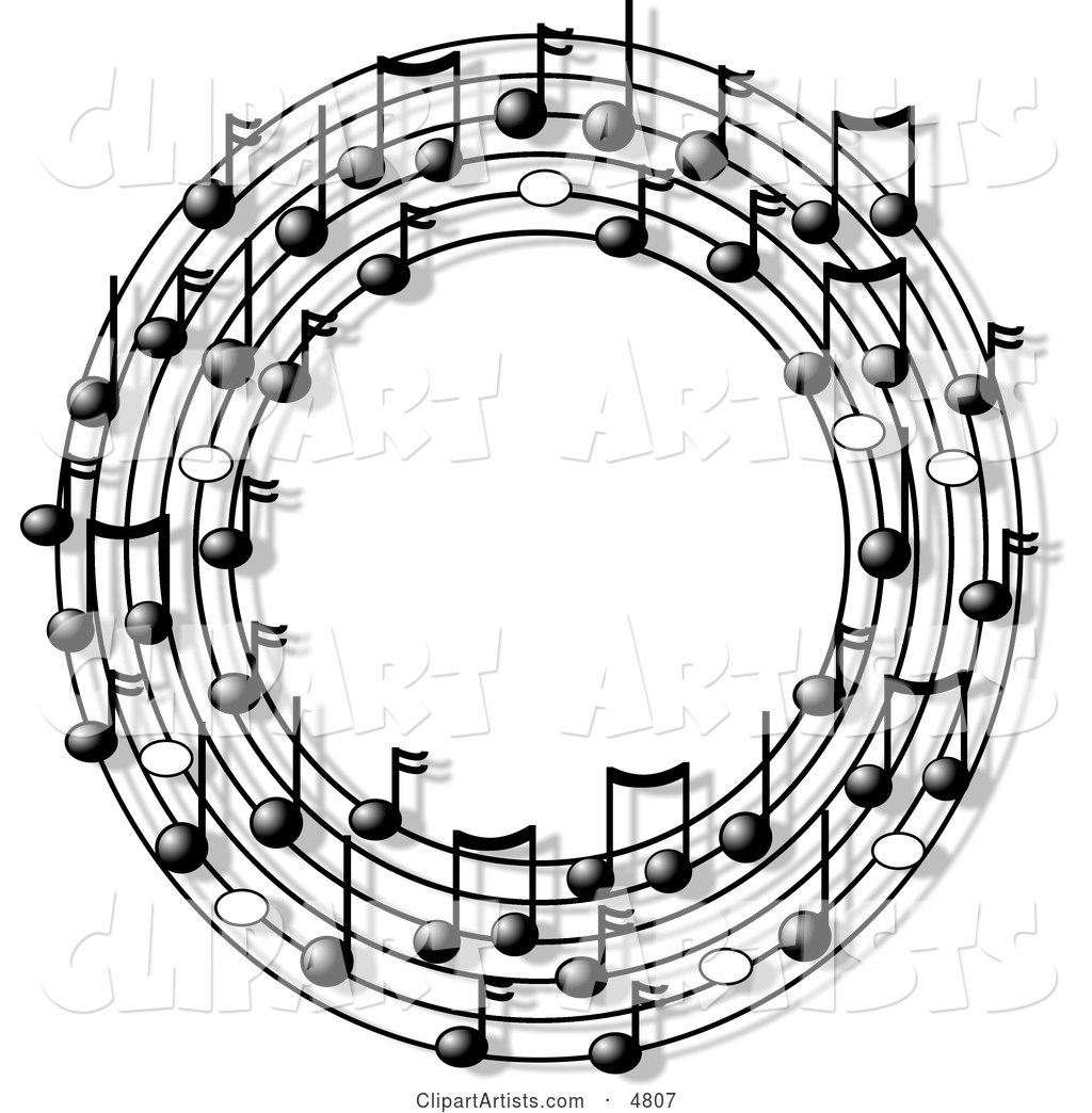 Ring or Circle of Musical Notes