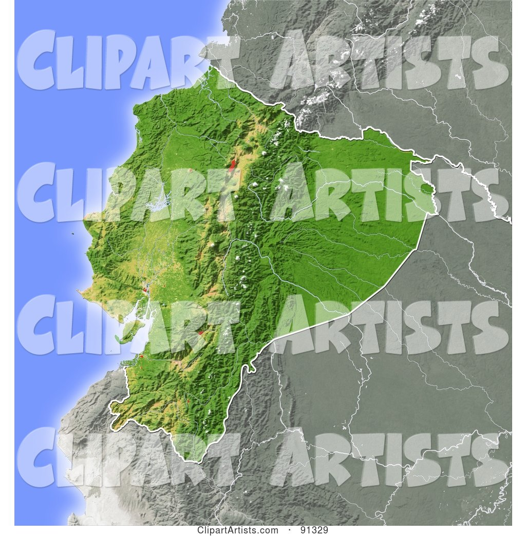 Shaded relief map of ecuador clipart by michael schmeling mschmeling shaded relief map of ecuador publicscrutiny Choice Image