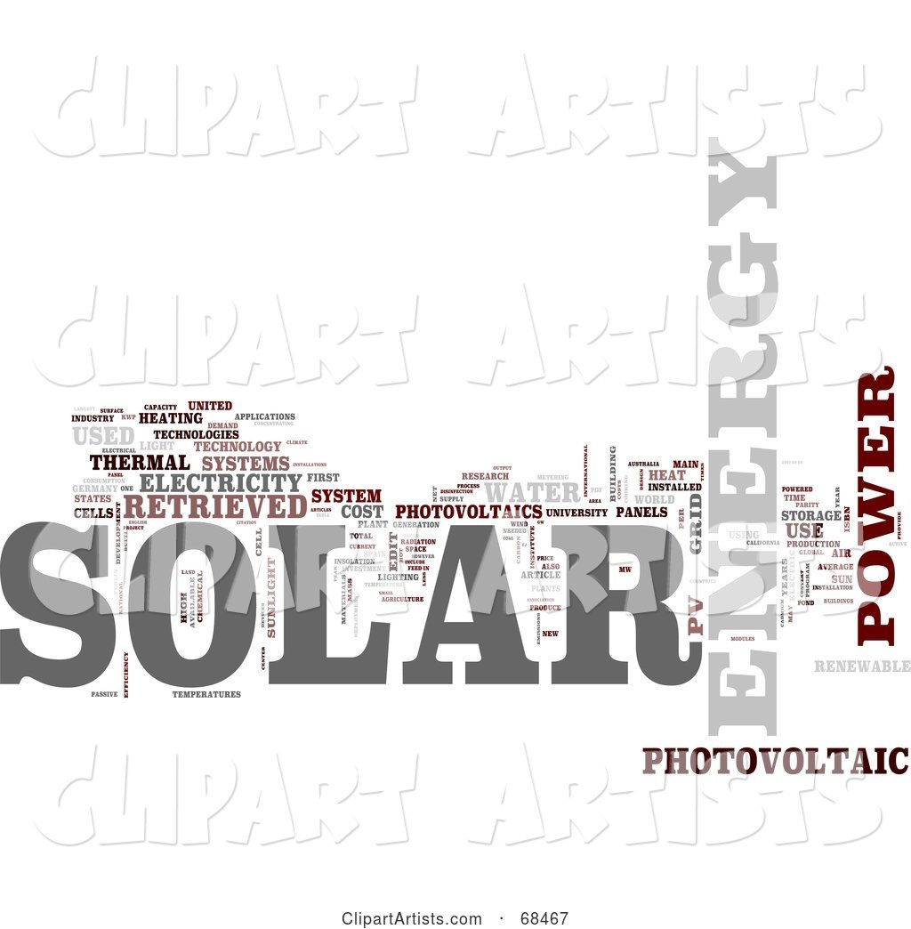 Solar Power Word Collage - Version 5