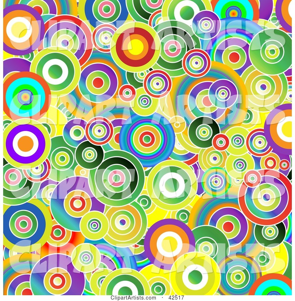 Vibrant Background of Colorful Circles