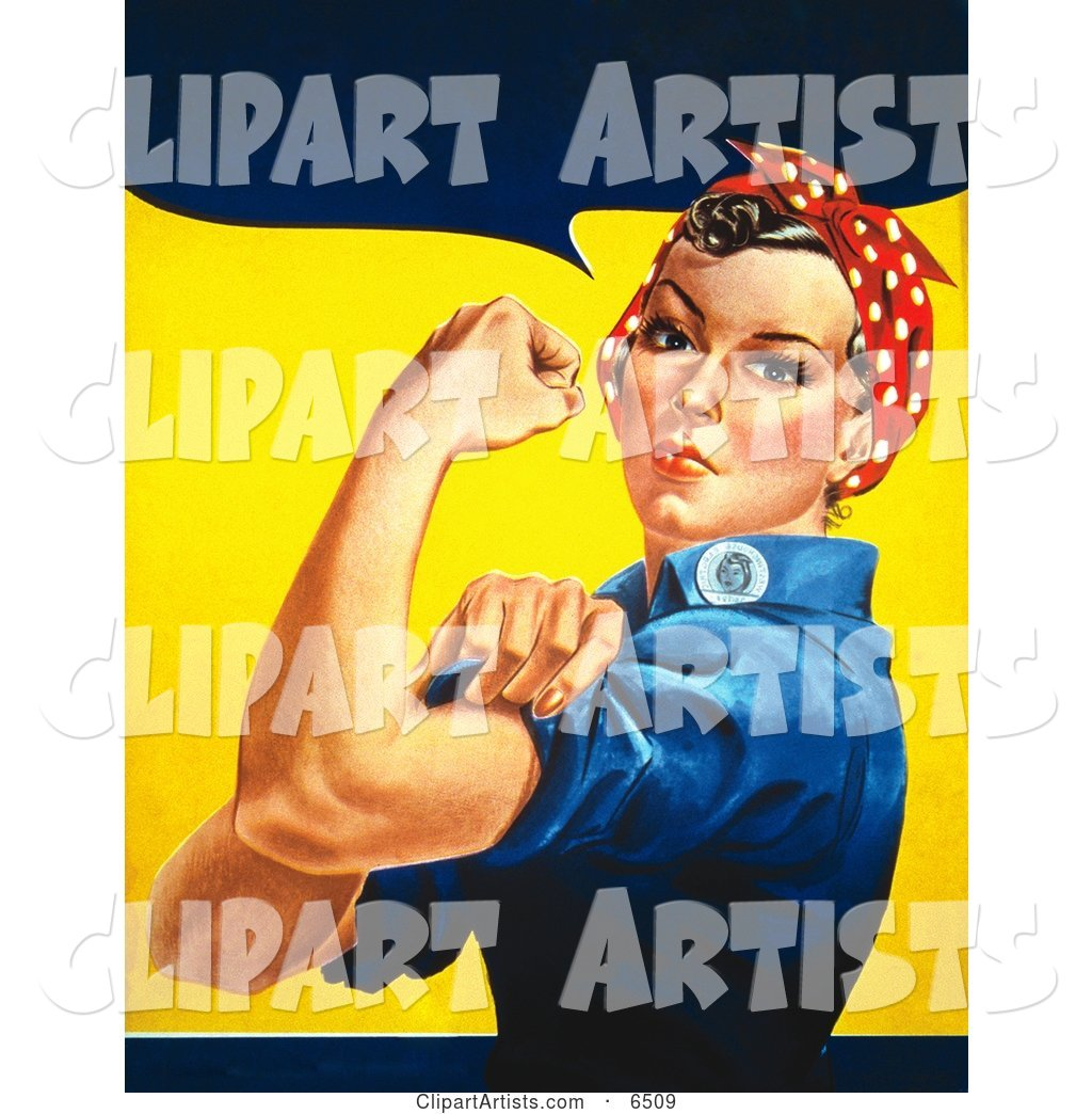 We Can Do It! Rosie the Riveter Without Text, Facing Left